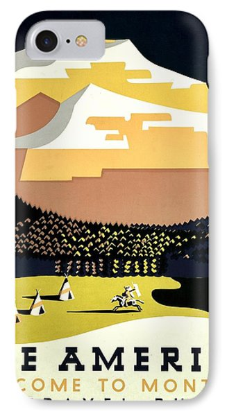 Vintage Poster - Montana Phone Case by Benjamin Yeager