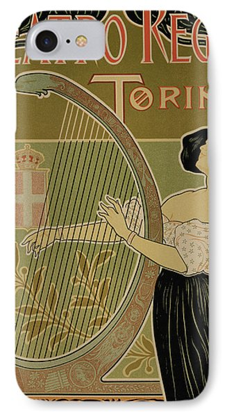 Vintage Poster Advertising The Theater Royal Turin Phone Case by Italian School