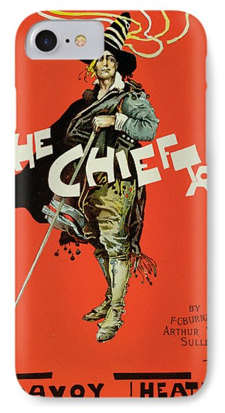 Vintage Poster For The Chieftain At The Savoy Phone Case by Dudley Hardy