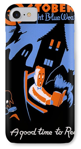 Vintage Poster - Reading - October IPhone Case