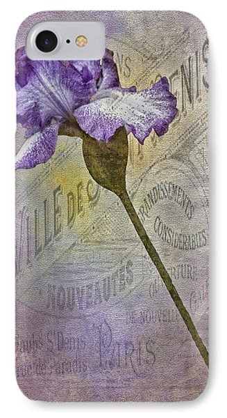 Vintage Pourpre Iris IPhone Case by Chanin Green