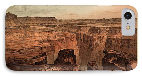 Vintage Print Of The Grand Canyon By William Henry Holmes - 1882 IPhone Case