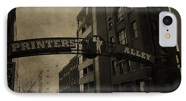 Vintage Printer's Alley IPhone Case by Dan Sproul