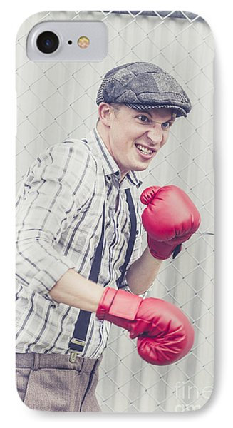 Vintage Prison Yard Boxer Settling The Score IPhone Case by Jorgo Photography - Wall Art Gallery