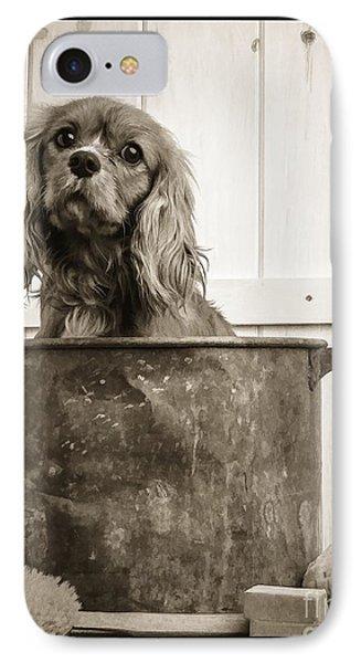 Vintage Puppy Bath IPhone Case