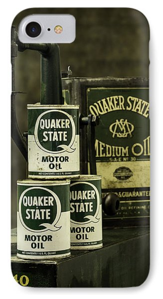 Vintage Quaker State Motor Oil IPhone Case by Betty Denise
