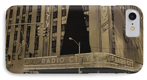 Vintage Radio City Music Hall Phone Case by Dan Sproul