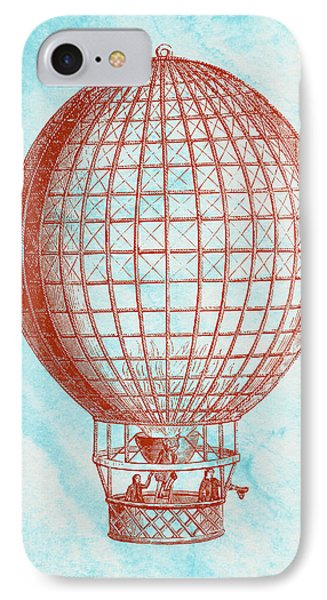 Vintage Red Hot-air Balloon IPhone Case