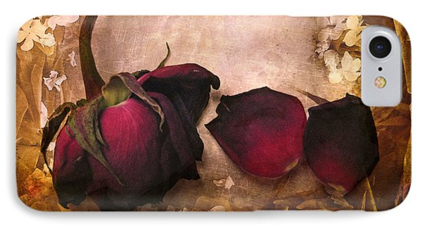 Vintage Rose Petals IPhone Case by Jessica Jenney