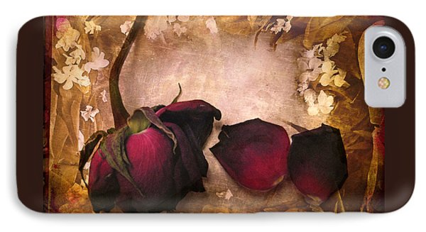 Vintage Rose Petals IPhone Case