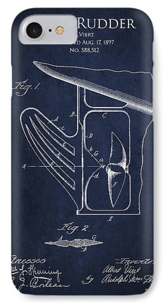 Vintage Rudder Patent Drawing From 1887 Phone Case by Aged Pixel