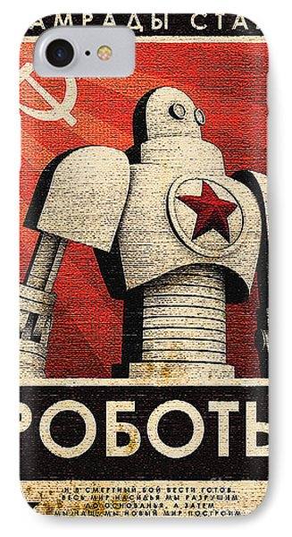 Vintage Russian Robot Poster IPhone Case