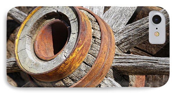 IPhone Case featuring the photograph Vintage Rustic Wagon Wheel 1 by Lincoln Rogers