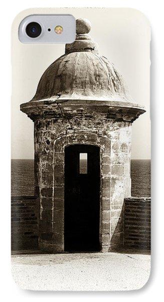 Vintage San Juan Guard Tower Phone Case by John Rizzuto