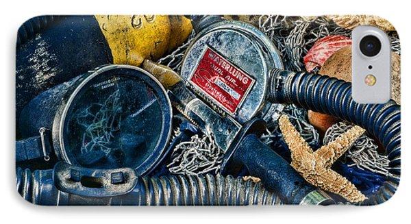 Vintage Scuba Gear IPhone Case by Paul Ward