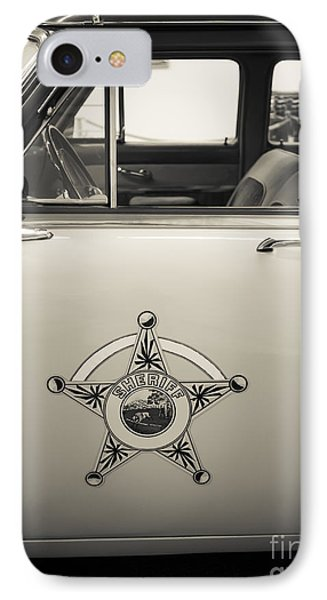 Vintage Sheriffs Police Car IPhone Case by Edward Fielding