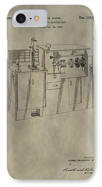 Vintage Shoe Repair Machine Patent IPhone Case by Dan Sproul
