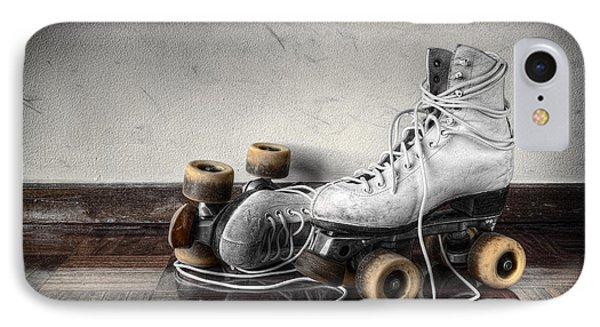 Vintage Skates IPhone Case by Carlos Caetano