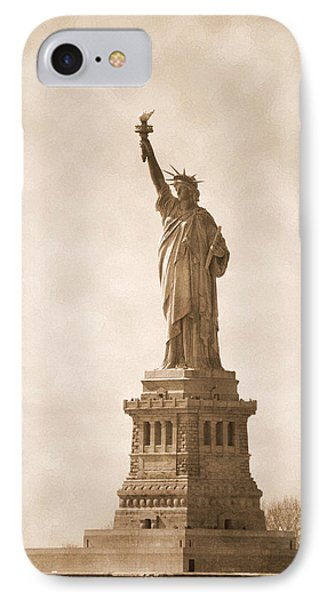 Vintage Statue Of Liberty IPhone Case