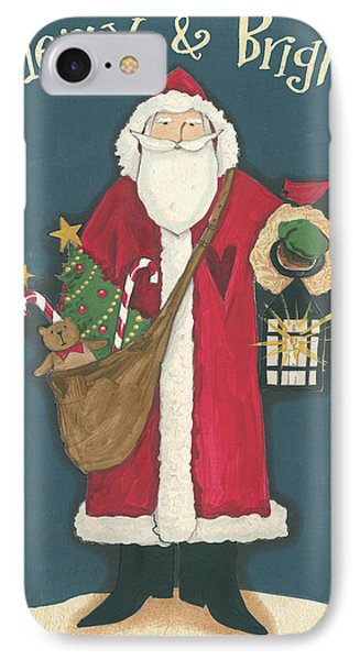 Vintage St.nick I IPhone Case by Anne Tavoletti