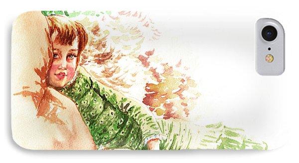 IPhone Case featuring the painting Vintage Study Lilian Of James Tissot by Irina Sztukowski