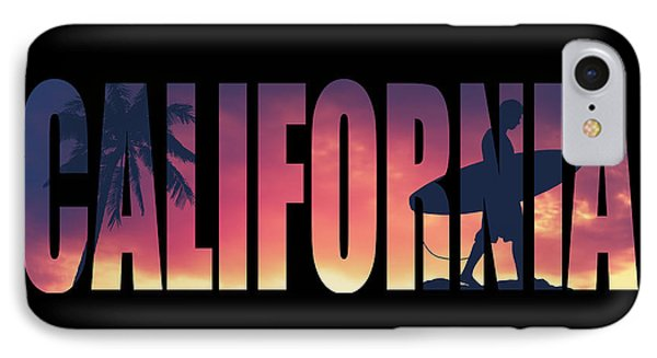 Vintage Style California Postcard IPhone Case by Mr Doomits