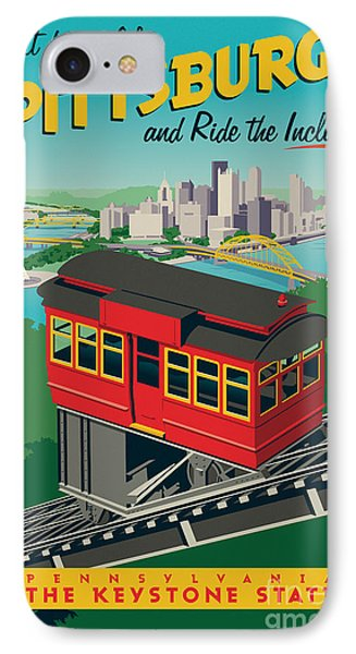 Vintage Style Pittsburgh Incline Travel Poster IPhone 7 Case