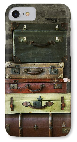 IPhone Case featuring the photograph Vintage Suitcases by Ethiriel  Photography