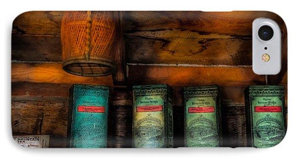 Vintage Tea Leaves IPhone Case by Paul Freidlund