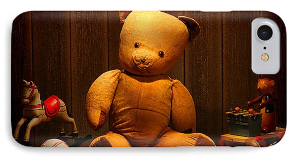 Vintage Teddy Bear And Toys IPhone Case by Olivier Le Queinec