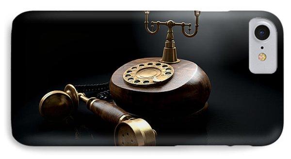 Vintage Telephone Dark Off The Hook IPhone Case by Allan Swart