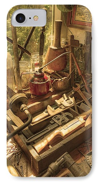 Vintage Tools IPhone Case by Mal Bray