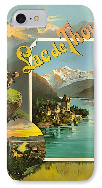 Vintage Tourism Poster 1890 Phone Case by Mountain Dreams