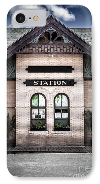 Vintage Train Station Phone Case by Edward Fielding