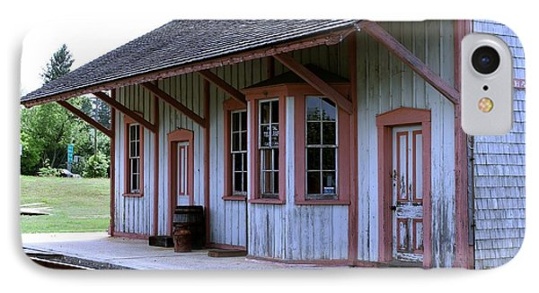 Vintage Train Station IPhone Case by Nance Larson