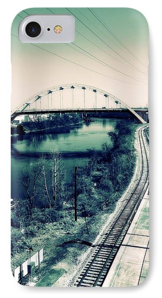 Vintage Train Tracks In Nashville IPhone Case by Dan Sproul