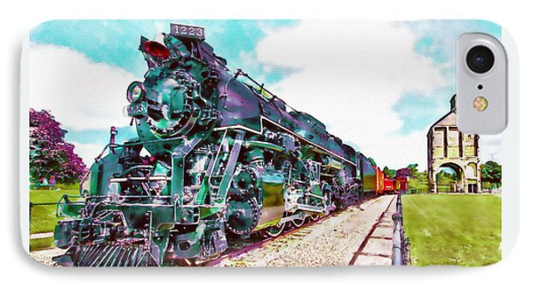 Vintage Train Watercolor IPhone Case by Marian Voicu