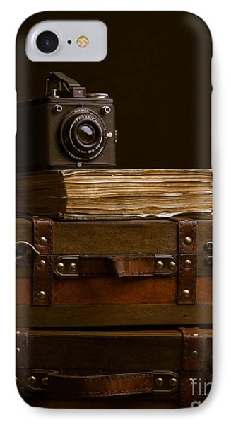 Vintage Travel IPhone Case by Edward Fielding