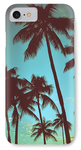 Vintage Tropical Palms IPhone Case by Mr Doomits