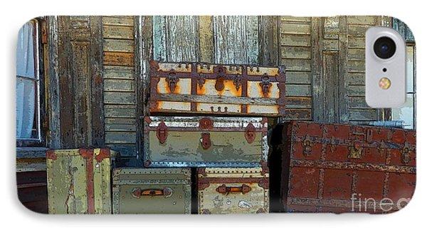Vintage Trunks   Sold IPhone Case by Marcia Lee Jones