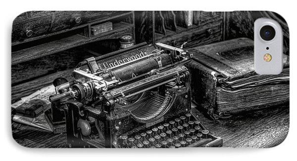 Vintage Typewriter Phone Case by Adrian Evans