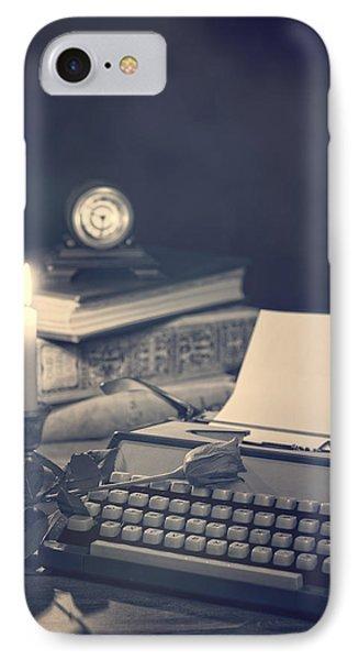 Vintage Typewriter Phone Case by Amanda Elwell