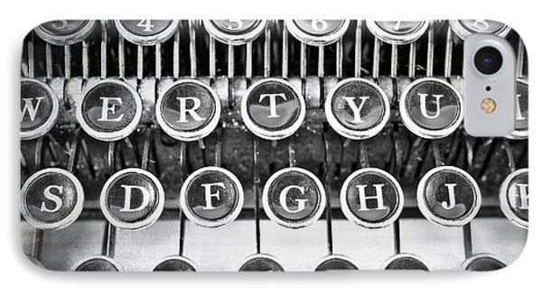Vintage Typewriter Phone Case by Edward Fielding