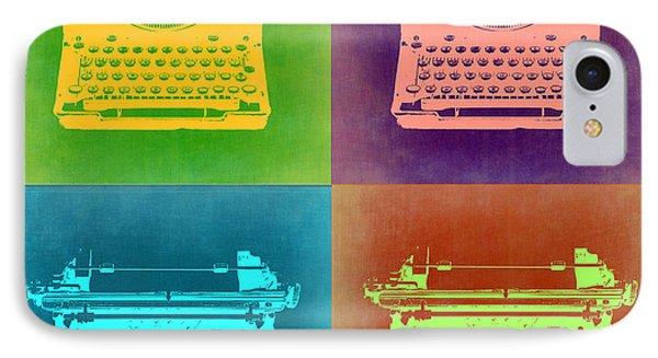 Vintage Typewriter Pop Art 1 IPhone Case by Naxart Studio