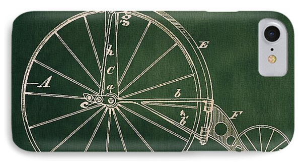 Vintage Velocipede Patent IPhone Case by Dan Sproul