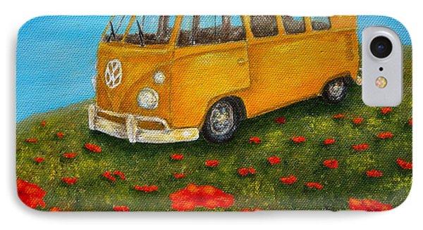 Vintage Vw Bus IPhone Case by Pamela Allegretto