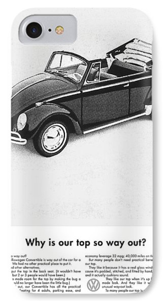 Vintage Vw Convertible Advert IPhone Case