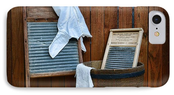 Vintage Washboard Laundry Day Phone Case by Paul Ward