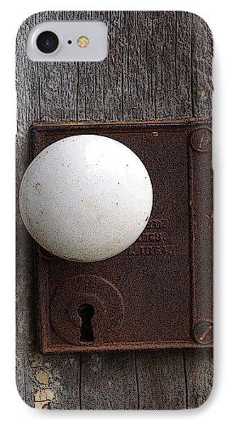 Vintage White Doorknob IPhone Case by TnBackroadsPhotos