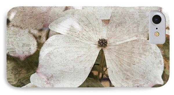 Vintage White Flowering Dogwood IPhone Case by Brooke T Ryan